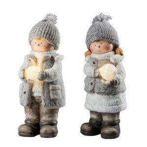 Saico Dekor světlo XL zimní dítě s LED sněhovou koulí