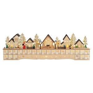 Saico LED adventní kalendář Vánoční město