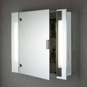 Searchlight Moderní zrcadlová skříňka Silva s osvětlením