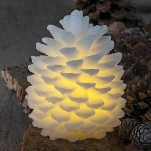 Sirius LED svíčka Clara ve tvaru špičky, výška 14 cm