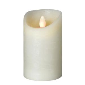 Sompex LED svíčka Shine Ø 7,5 cm slonovina, výška 15 cm