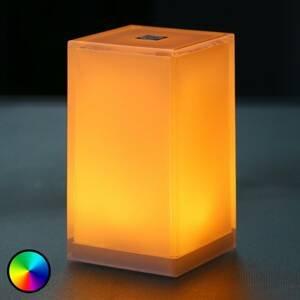 Smart&Green Přenosná stolní lampa Cub, ovládání aplikací, RGBW