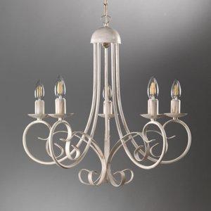 ONLI Lustr Pompei bez stínidlo na lampu, bílá antická