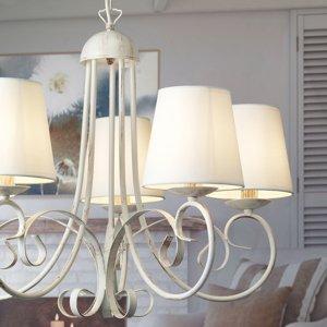 ONLI Lustr Pompei s stínidlo na lampu, bílá