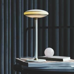 SHADE LIGHTS Shade ØS1 LED stolní lampa prsten mosaz noha bílá