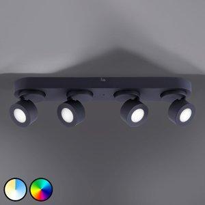 Trio Lighting Trio WiZ Sancho LED stropní světlo 4 zdroje, černé