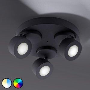 Trio Lighting Trio WiZ Sancho LED stropní světlo 3 zdroje, černé