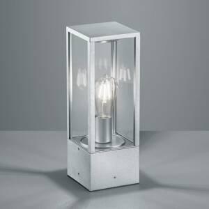 Trio Lighting Soklové světlo Garonne v zinkovém designu