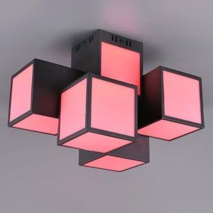 Trio Lighting Trio WiZ Oscar LED stropní světlo 45x30cm, černá