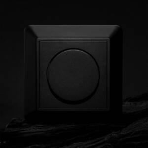 THE LIGHT GROUP SLC kryt pro SmartOne AC nástěnný stmívač, černá