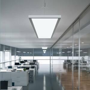 WALDMANN LED závěsné světlo IDOO pro kanceláře 49 W, bílá