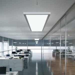 WALDMANN LED závěsné světlo IDOO pro kanceláře 49 W stříbro