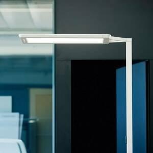 WALDMANN Stojací lampa LED Yara.single VTL, LTX, stříbrná