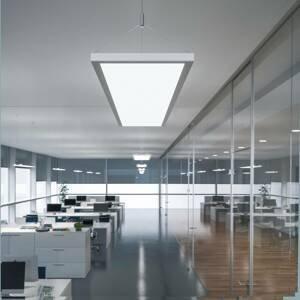 WALDMANN Závěsné světlo IDOO VTL, DALI, 65W, CCT, stříbrné
