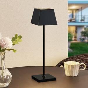 Lucande Lucande Patini LED venkovní stolní lampa, černá