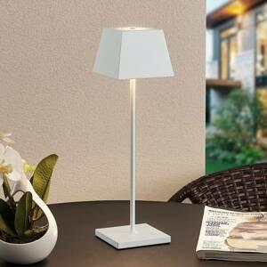 Lucande Lucande Patini LED venkovní stolní lampa, bílá