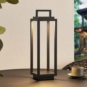 Lucande Lucande Mirina LED venkovní lucerna, USB, černá