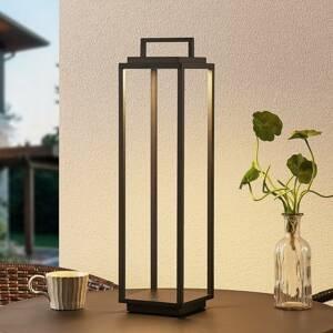 Lucande Lucande Elaja LED venkovní lucerna, USB, černá