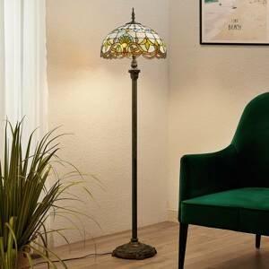 Lindby Lindby Audrey stojací lampa ve stylu Tiffany