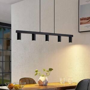 Lindby Lindby Baliko závěsné světlo, 5 zdrojů, černé