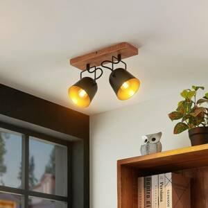Lindby Lindby Adalin stropní světlo, dva zdroje, černá