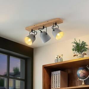 Lindby Lindby Adalin stropní světlo, tři zdroje, šedá