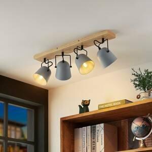 Lindby Lindby Adalin stropní světlo, čtyři zdroje, šedá