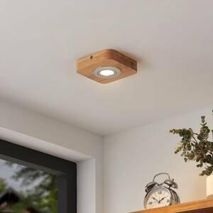 Lindby Lindby Mikari LED stropní světlo ze dřeva, 1 zdroj