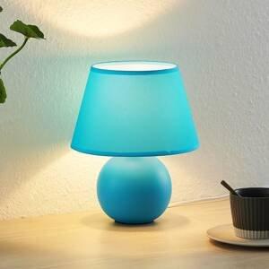 Lindby Lindby Calliota látková stolní lampa kulatá, modrá