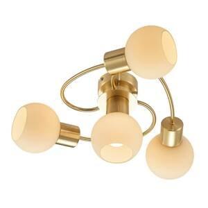 Lindby Lindby LED stropní světlo Ciala, 4 zdroje, mosaz