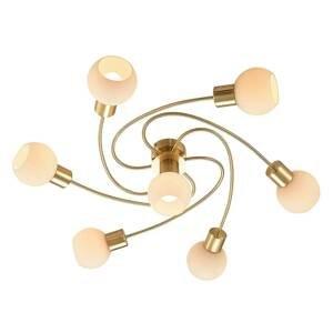 Lindby Lindby LED stropní světlo Ciala, 7 zdrojů, mosaz