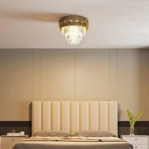 Lucande Lucande Miraia křišťálové stropní světlo, zlatá