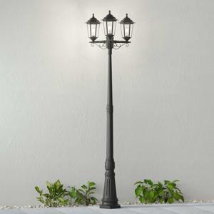 Lindby Stožárové svítidlo Nane ve tvaru lucerny 3zdrojové