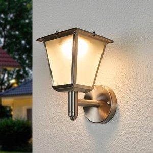 Lindby Solární LED venkovní nástěnná svítilna Anica nerez