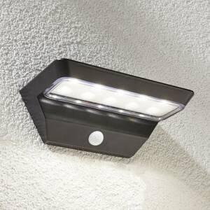 Lindby LED solární nástěnné svítidlo Emilio se senzorem