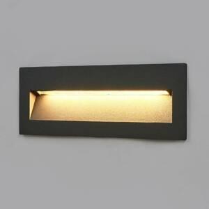 Lucande Tmavé LED podhledové svítidlo Loya, venkovní zdi