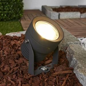 Lucande LED venkovní reflektor Irina v tmavě šedé barvě