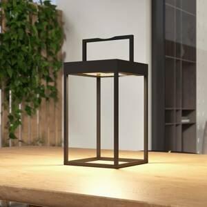 Lucande Lucande Lynzy LED solární světlo, černá, 38,3 cm
