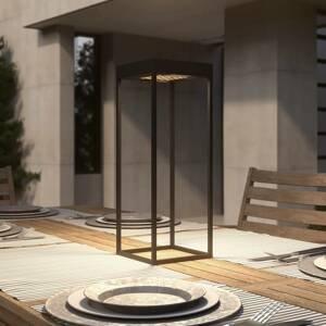 Lucande Lucande Lynzy LED solární světlo, černá, 58,3 cm