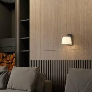 Lucande Lucande Rhea nástěnné světlo s černým dřevem