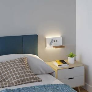 Lucande Lucande Kimo nástěnné světlo bílá/nikl USB polička