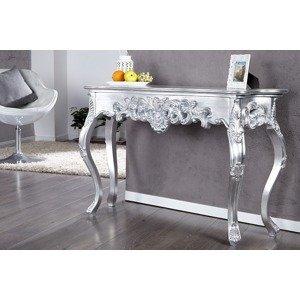 LuxD Luxusní toaletní stolek Veneto stříbrný