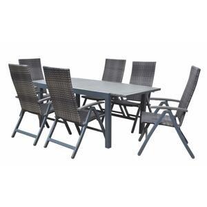 Stůl zahradní rozkládací CALVIN 341 barva: šedá