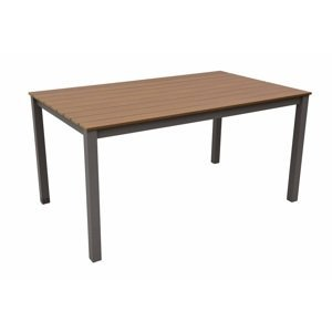 Zahradní stůl obdélníkový pevný 150x90 cm CALVIN II béžová
