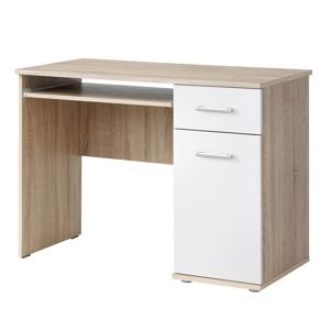 PC stůl v jednoduchém moderním provedení bílá EMIO Typ 6