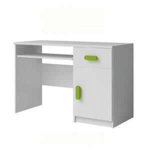 PC stůl 110x50 cm v bílé barvě s ABS hranami TK2089