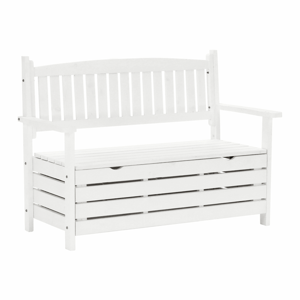 Zahradní lavička, bílá, 124cm, DILKA