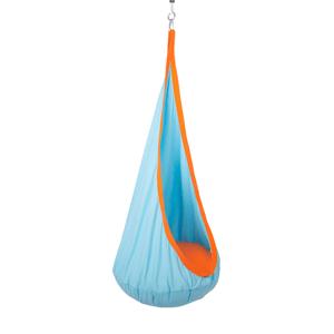 Závěsné houpací křeslo, modrá/oranžová, SIESTA TYP 1