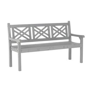 Dřevěná zahradní lavička, šedá, 150 cm, FABLA