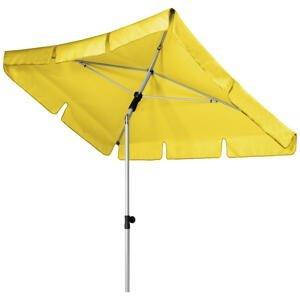 SLUNEČNÍK, otočné o 360°, nastavitelná výška, 120/180 cm - žlutá